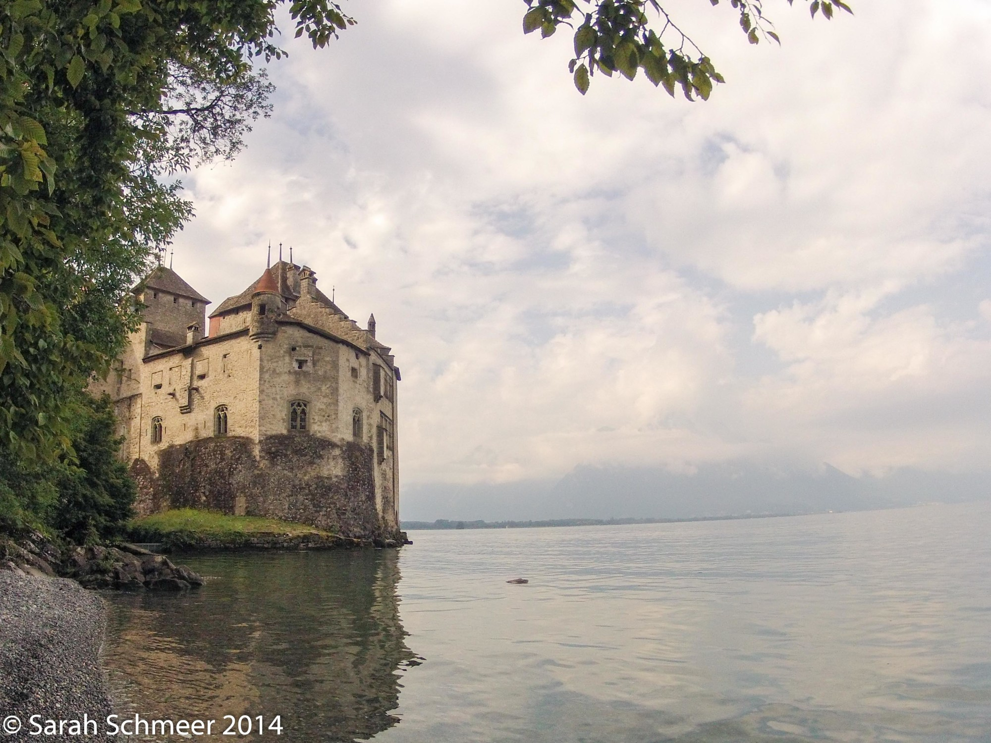 Chillon Castle looming over Lac Leman