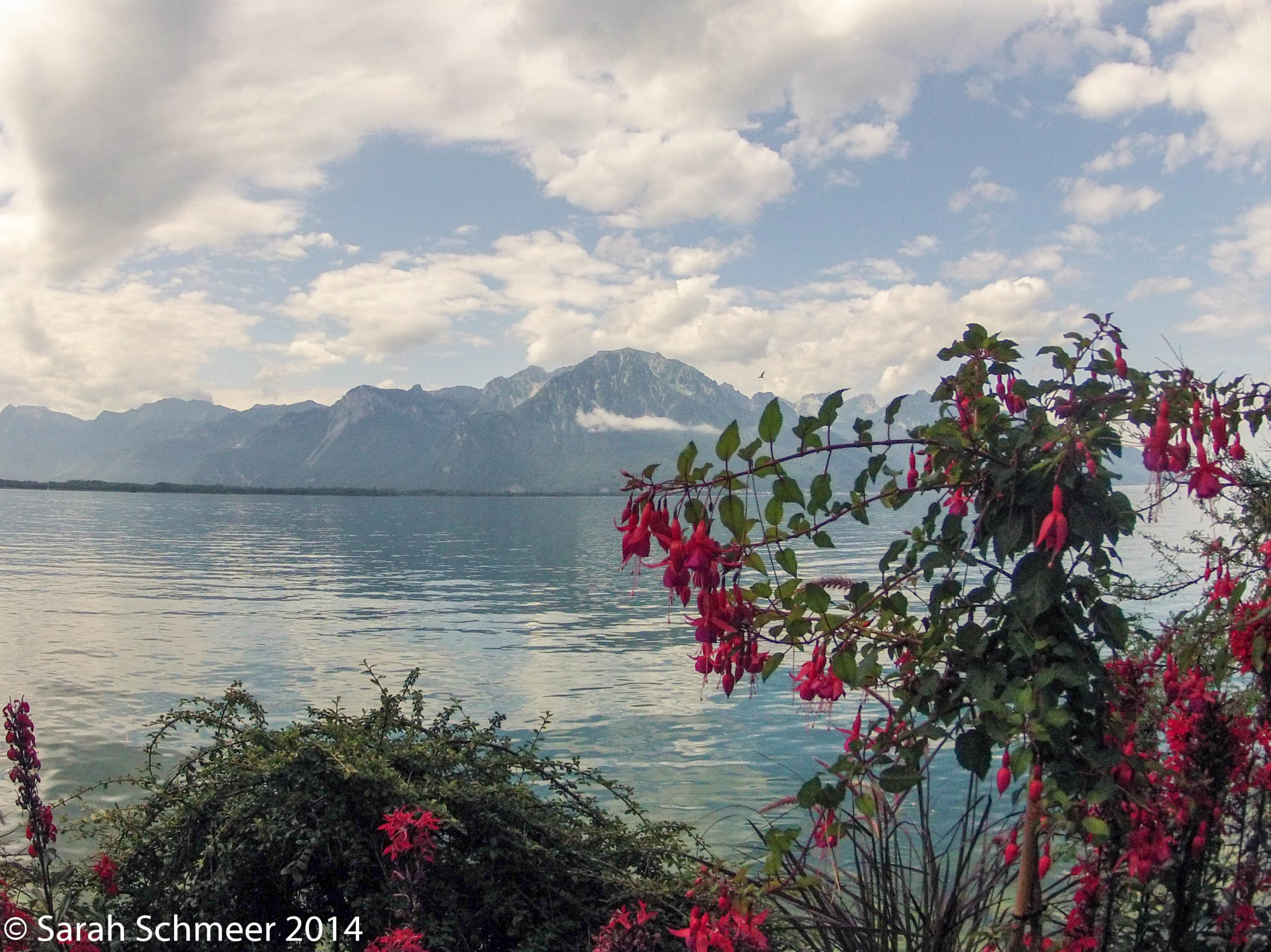 View over Lac Leman from Montreux