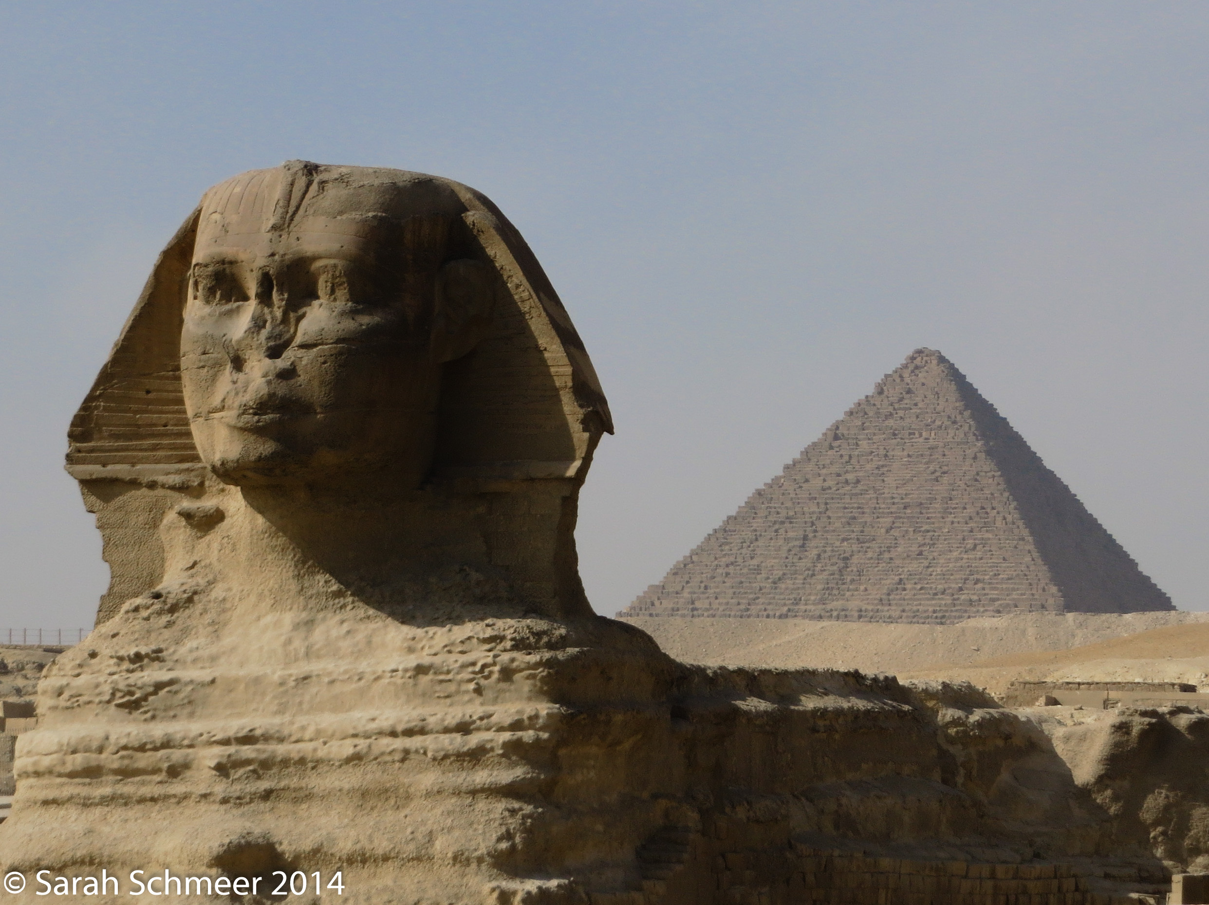 The amazing Sphinx and awesome pyramids of Giza--a lifelong dream fulfilled!