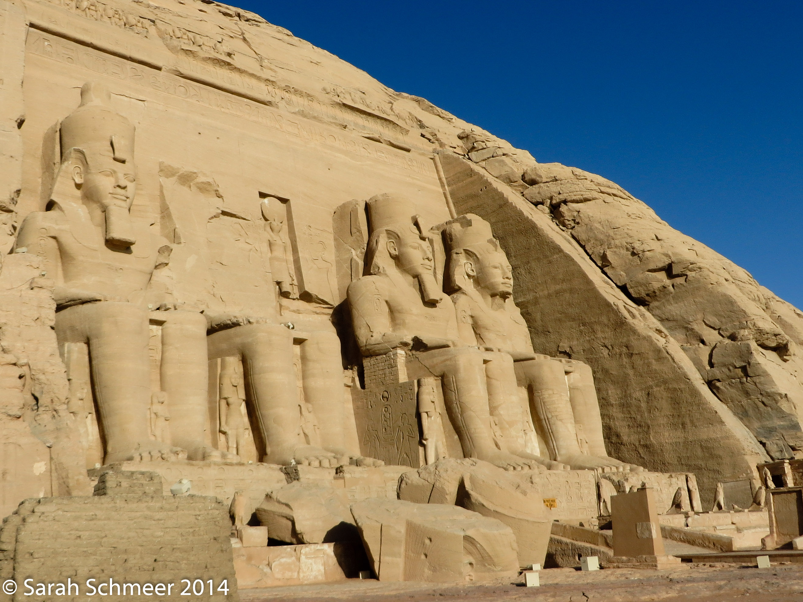 The Abu Simbel site containing the tomb of Ramses II.