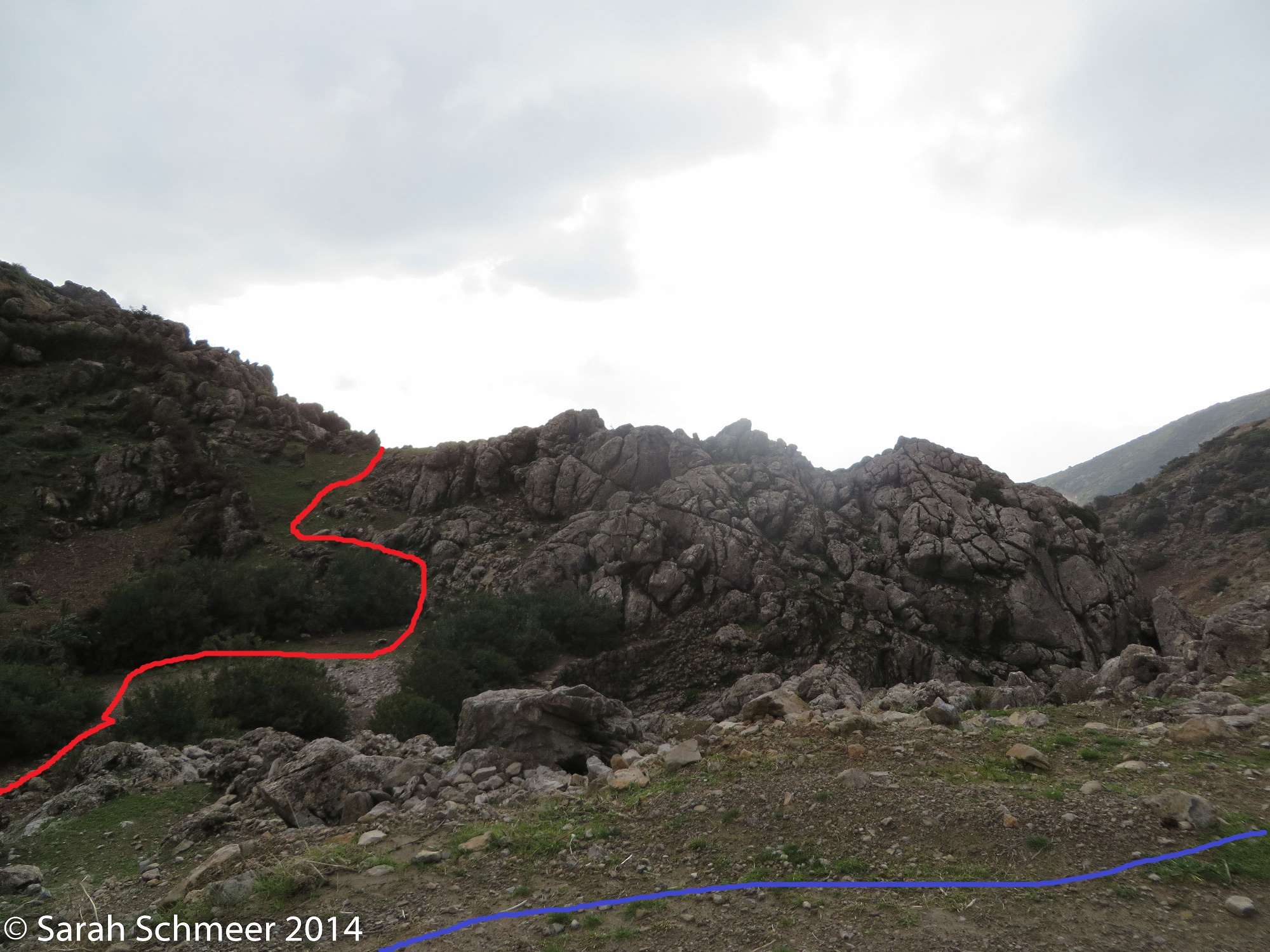 This is where the steepcut pops out and meets the normal route