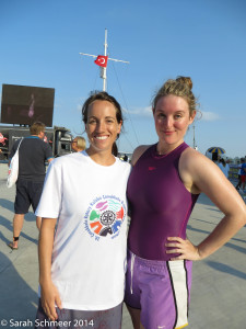 Pre-swim picture!  I definitely didn't look as cool when I finished.