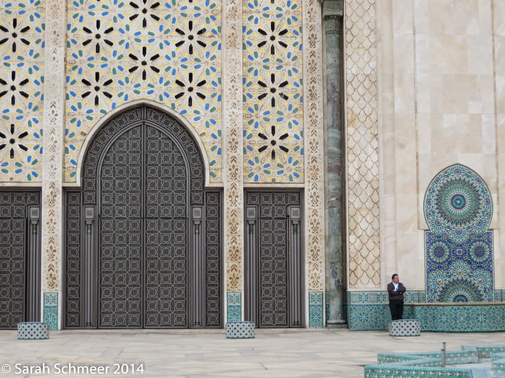 One of the entrances to the Hassan II mosque in Casablanca
