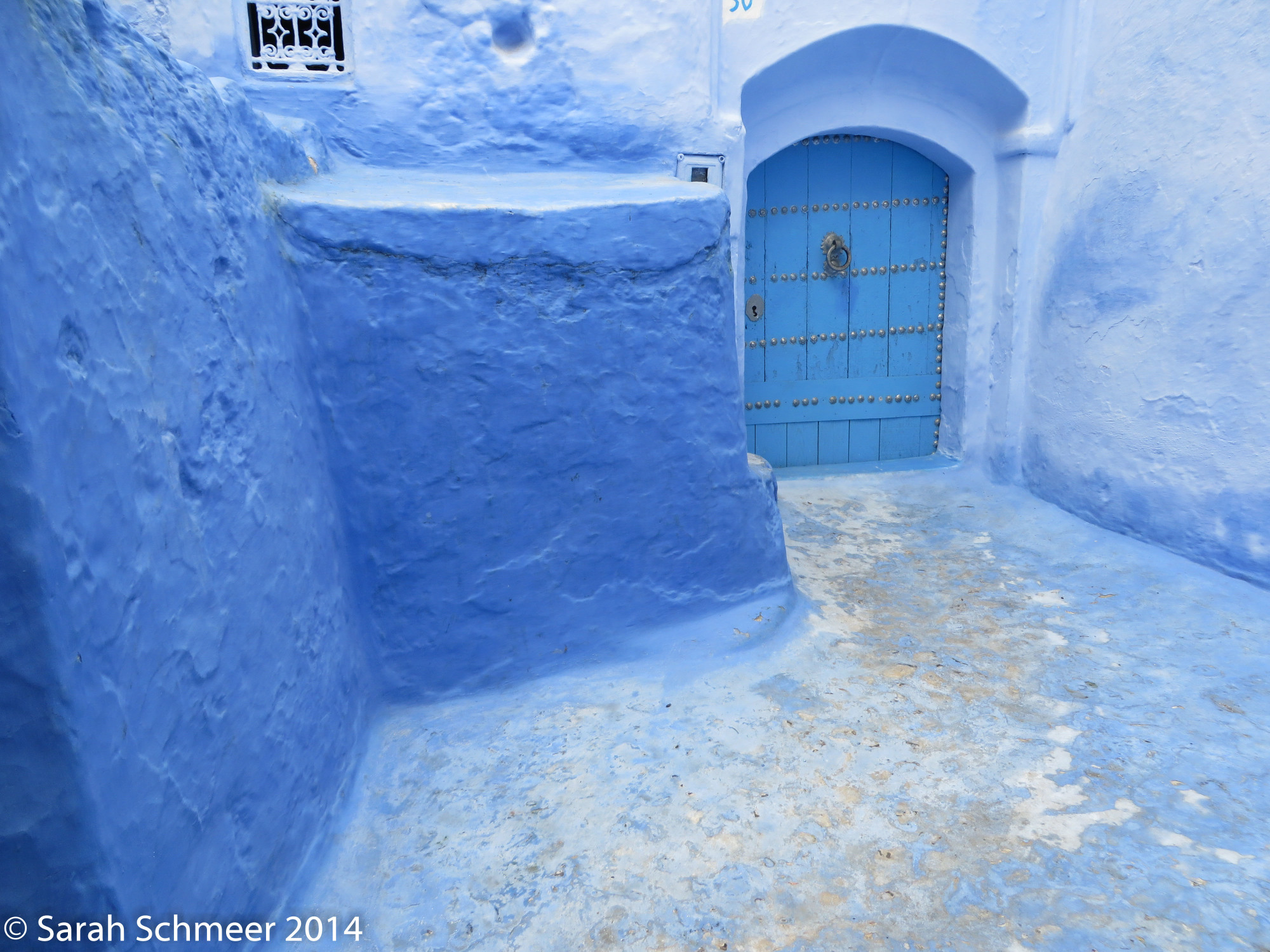 Chefchaouen, the beautiful blue city in the Rif Mountains of Morocco.