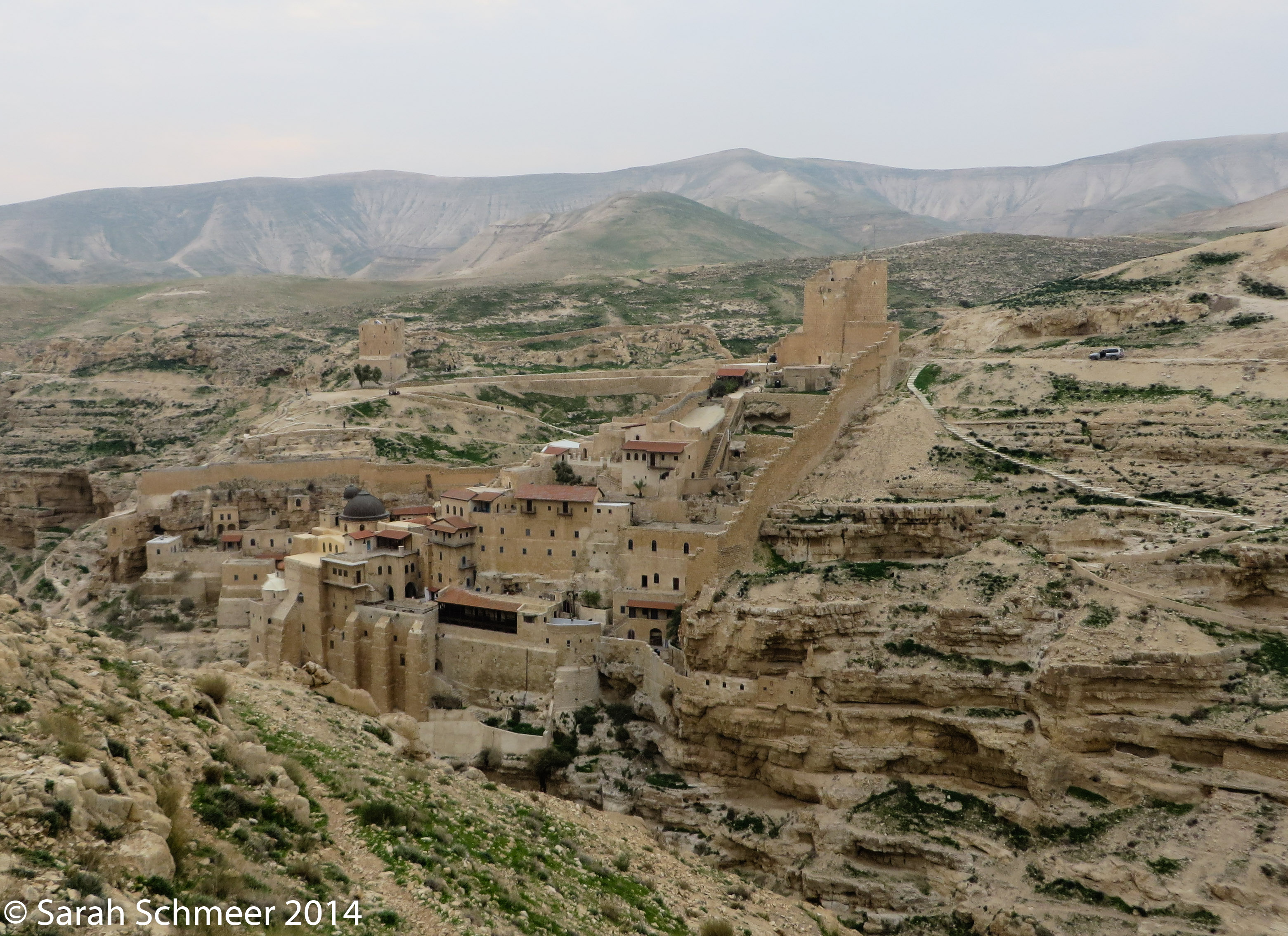 The Mar Saba Monastery in Palestine, as seen from Israel
