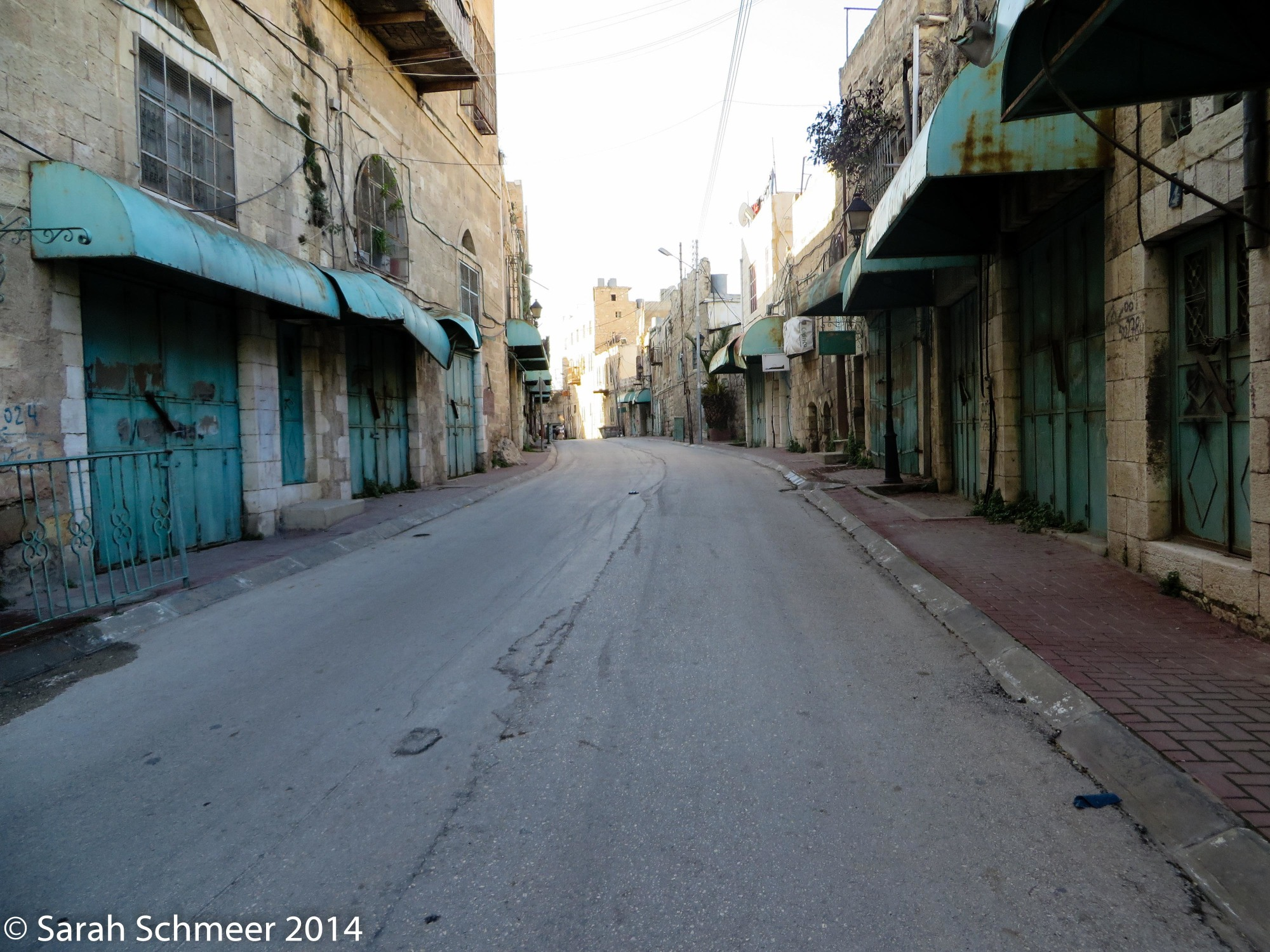 The ghost town of Shuhada Street in the previously-Arab and now-Israeli portion of Hebron.