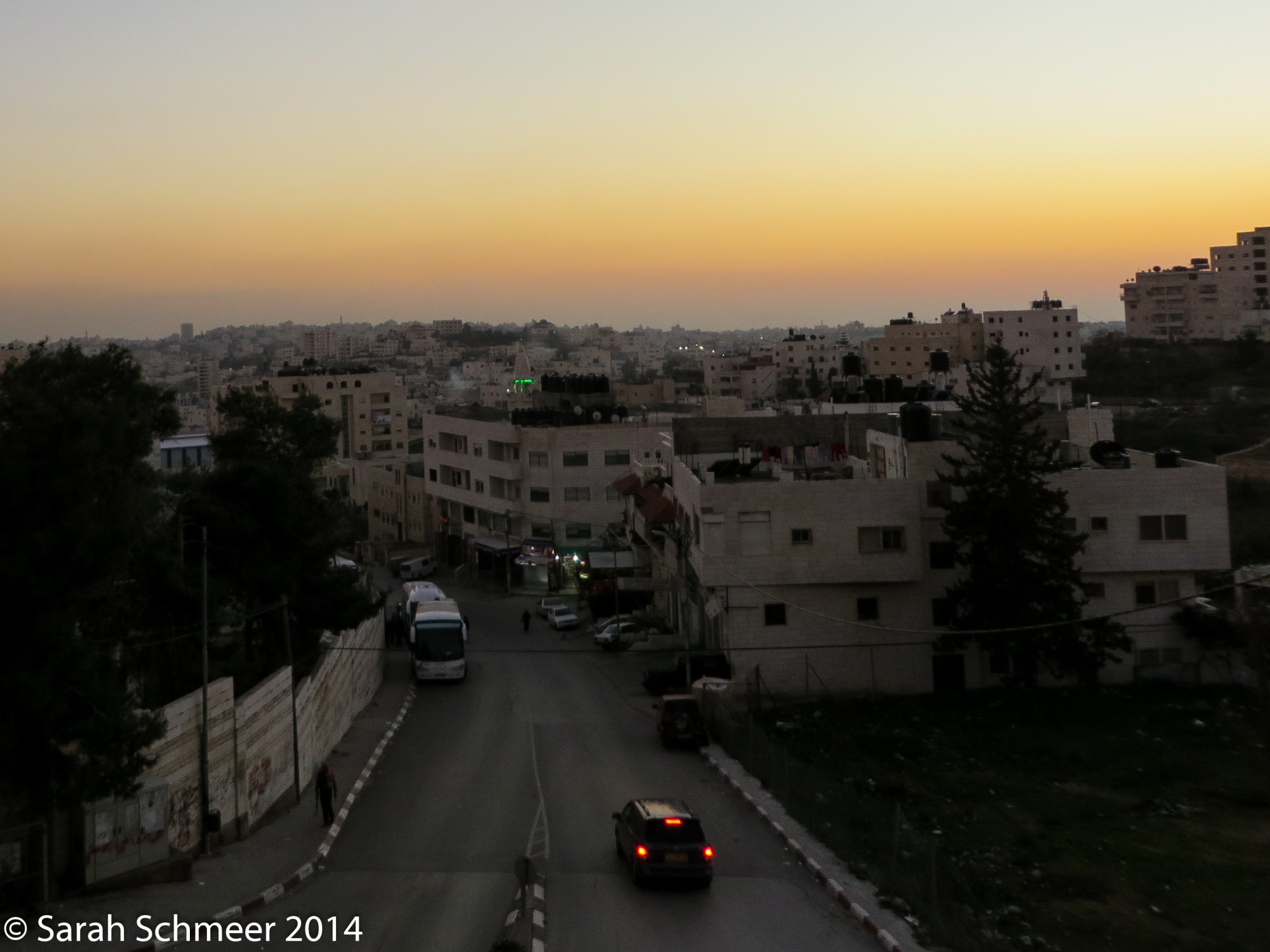 Sunset over Hebron, West Bank