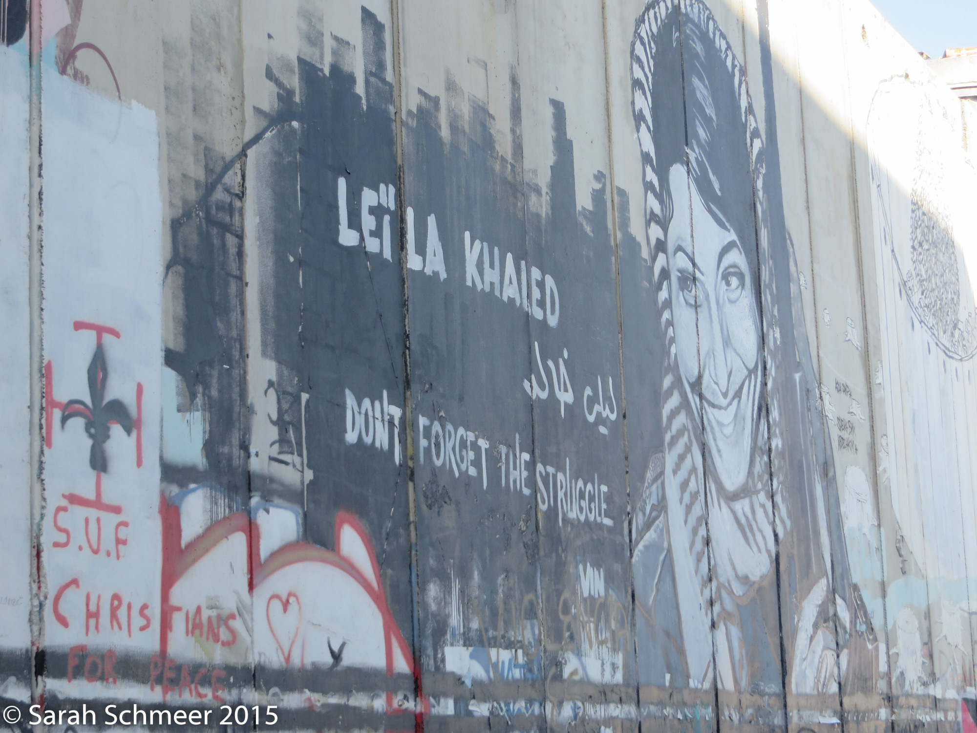 Local artwork on the Separation Wall in Bethlehem.
