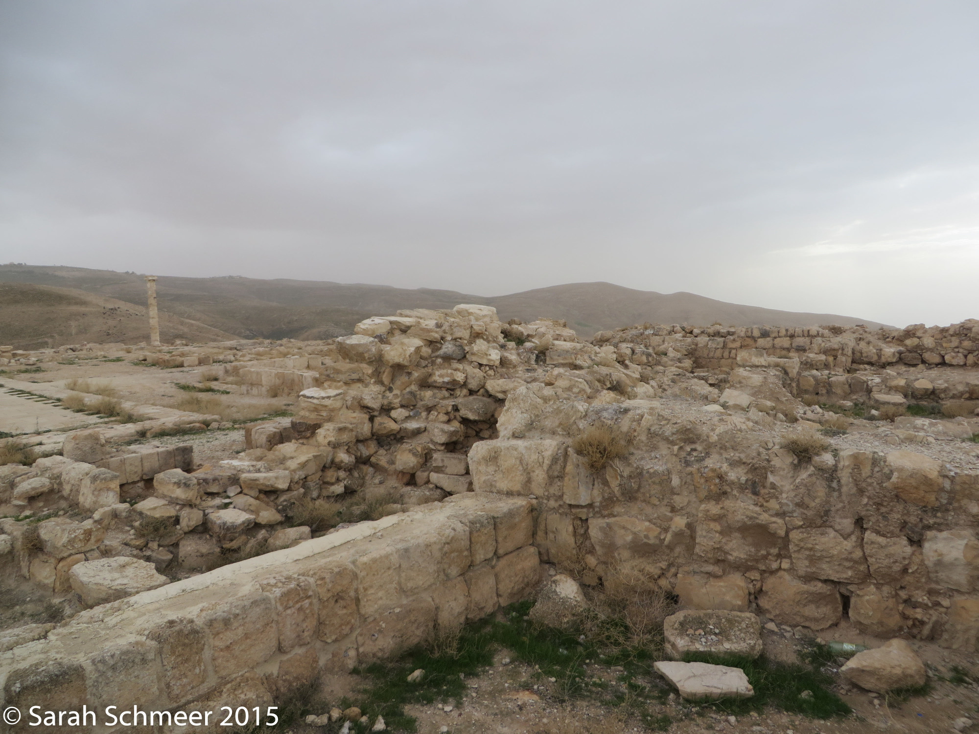 All that remains of Herod's ancient fortress at Mukawir.