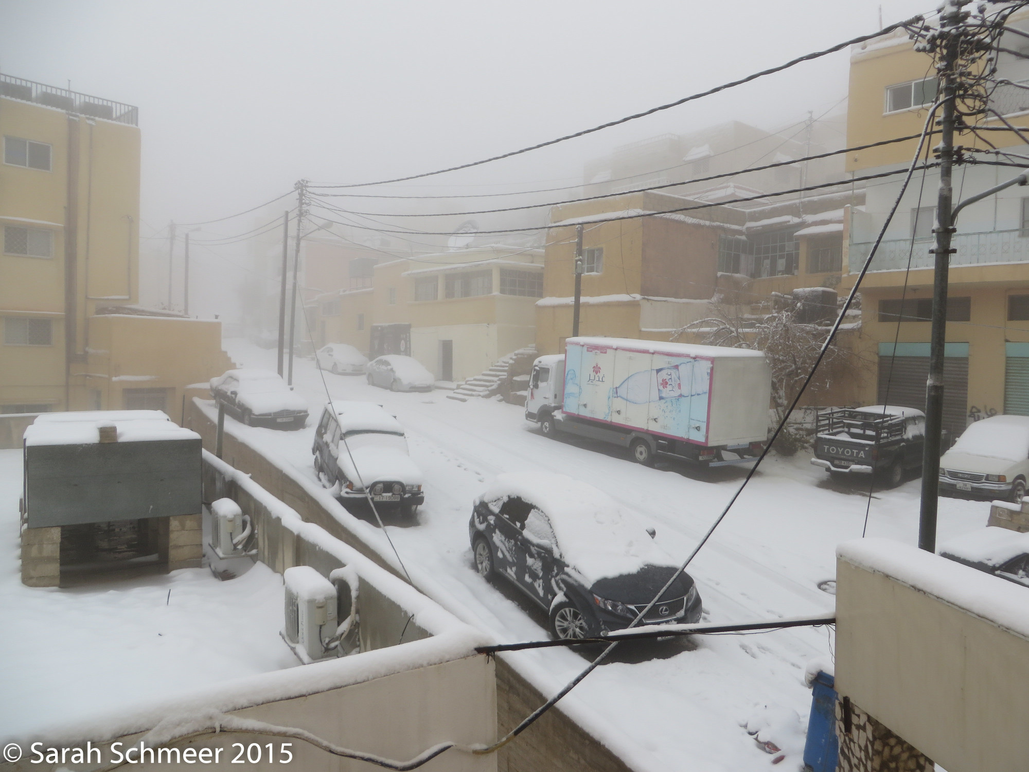 Winter Storm Huda hits Wadi Musa outside Petra.