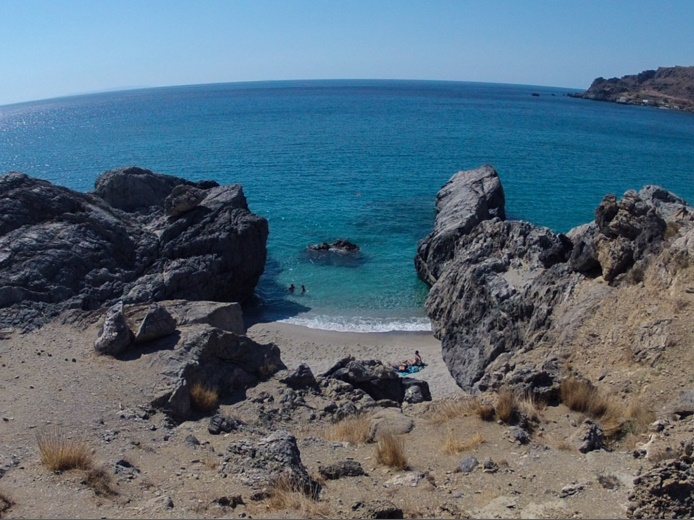 Private coves on Crete are free! Plakias, Crete, Greece.