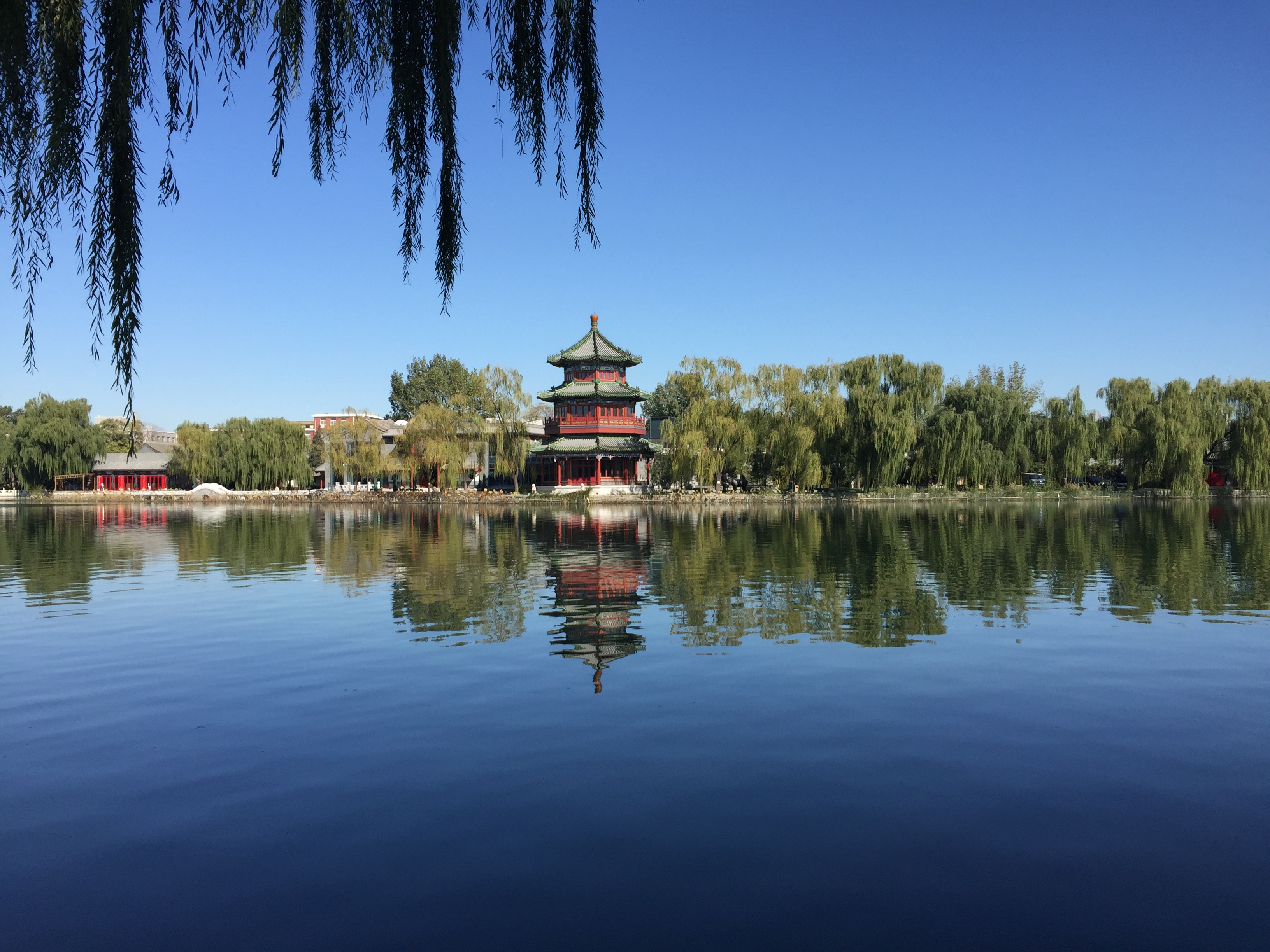 Xihai Lake on a remarkably clear day. Not a bad place for a run!
