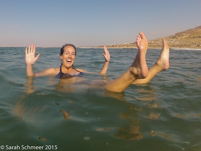 Floatin' like a cork! [Dead Sea, Jordan]
