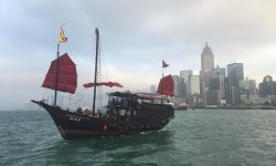 The classic Chinese junk I sailed around Hong Kong Island on. A definite highlight of my trip to Hong Kong!